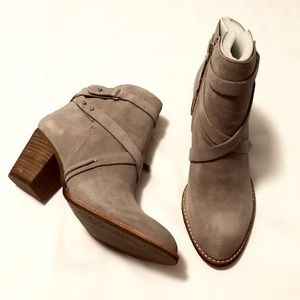 NWB Sam Edelman Merton Leather Suede Ankle Boots
